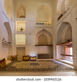 BAHLA, OMAN - NOVEMBER 28, 2017: Imam's Suite in Jabrin Castle, in Bahla, Oman