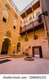 BAHLA, OMAN - NOVEMBER 28, 2017: view of Jabrin Castle, in Bahla, Oman