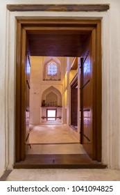 BAHLA, OMAN - NOVEMBER 28, 2017: Imam's Suite in Jabrin Castle, in Bahla, Oman