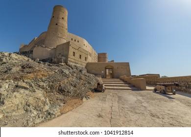 BAHLA, OMAN - NOVEMBER 28, 2017: view of Bahla Fort, in Bahla, Oman