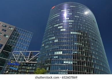 Bahntower, Headquarters of Deutsche Bahn in Berlin from June 1, 2017, Germany