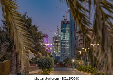Bahrain Financial Harbor as seen from nearby Reef Island.