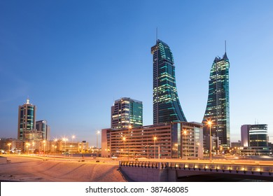 Bahrain Financial Harbour Skyscrapers in Manama City, Kingdom of Bahrain