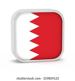 Bahrain flag sign on a white background. Part of a series.
