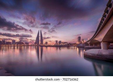 Bahrain ,Manama - areal view of manama in November 16- 2015,Skyscrapers along with WTC ,Domain Hotel and Bahrain Bank
