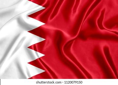 Bahrain silk flag