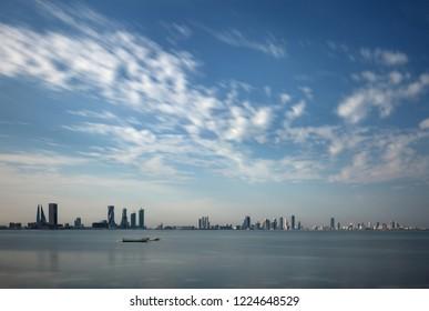 Bahrain skyline with iconic buildings of Bahrain