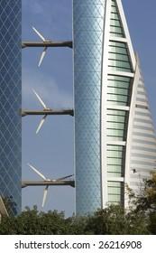 Bahrain World Trade Center - Wind turbine detail