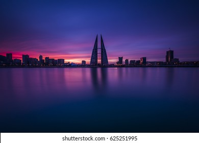 Bahrain World Trade Center-twin tower complex located in Manama, Bahrain.The towers were built by the multi national architectural firm Atkins.The wind turbines were developed,built by Danish company.