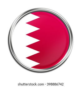 The Bahraini flag in the form of a glossy icon.