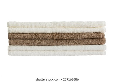 Baht towels. Isolated