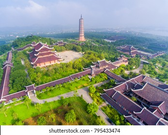 Bai Dinh pagoda from above. Ninh Binh province, Vietnam