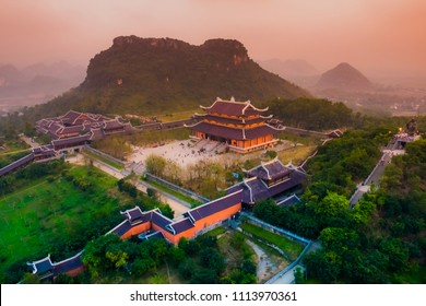 Bai Dinh Pagoda - The biggiest temple complex in Vietnam in Trang An, Ninh Binh