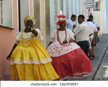 Baianas of Pelourinho  Salvador / Bahia / Brazil -  October 4th 2017
