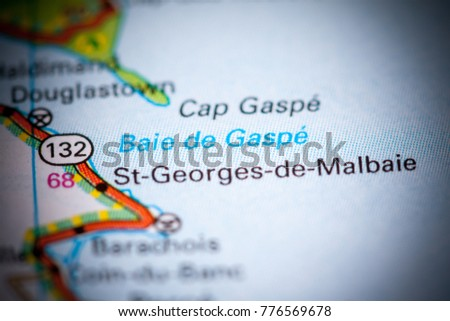 Gaspe Canada Map.Baie De Gaspe Canada On Map Stock Photo Edit Now 776569678