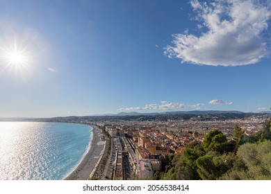 The Baie des Anges and the Promenade des Anglais in Nice