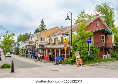 BAIE SAINT PAUL,CANADA - JUNE 17,2018 - In the streets of Baie Saint Paul. Baie Saint Paul is a city in the Province of Quebec in Canada