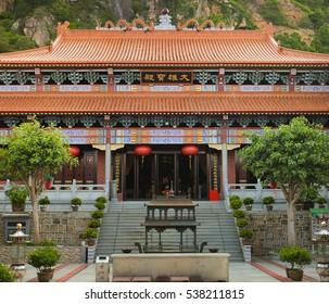 Baihuajian main temple at Shantou, Guangdong, China.