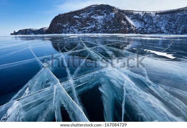 Baikal. Ice graphics