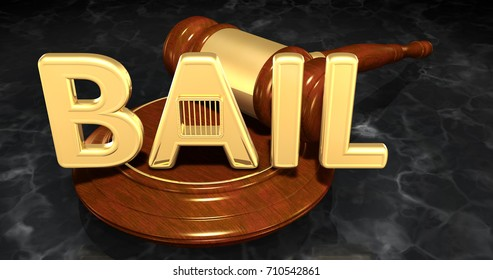 Bail Law Concept 3D Illustration