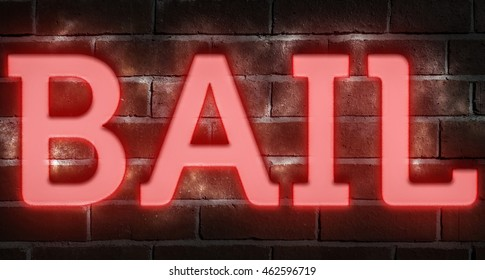 """Bail"" neon sign"