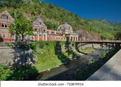 Baile Herculane is situated in Romania, Cara?-Severin County.  It has hot springs with sulfur and minerals, as well as negatively ionized air./Austrian Imperial Baths from Baile Herculane, Romania.