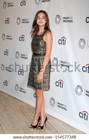 42f039456a Bailee Madison Paley Fest Previews Fall TV Stock Photo (Edit Now ...