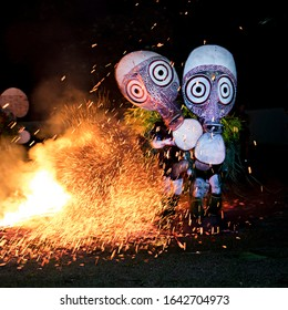 Baining Firework Dance, East New Britain, Rabaul, Papua New Guinea