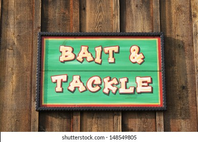 Bait and tackle sign