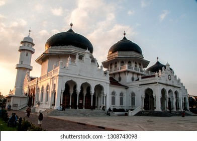 Baiturrahman Grand Mosque, a Mosque in the center of Banda Aceh, North Sumatra, Indonesia. It's a symbol of religion, culture, spirit, strength, struggle and nationalism of the Acehnese people