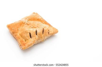 bake pie on white background