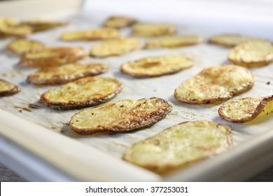 bake potato chips