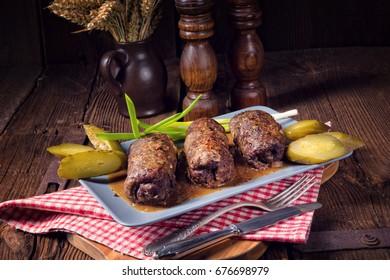 Backbeef Roulades mit köstlichen Füllungen
