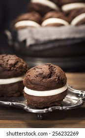 Baked Chocolate Moon or Whoopie Pies for Dessert
