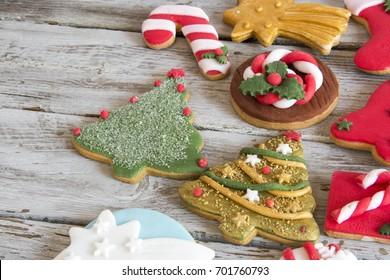 Baked Christmas cookies.