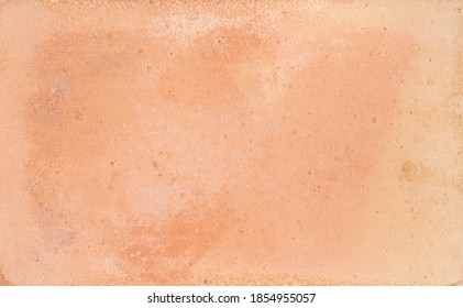 Baked clay similar to cement or terracotta texture background. Natural coatings of clay mortars.Rustic wall.