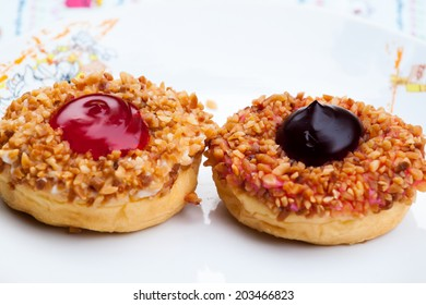 baked donuts, sweet food