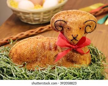 Baked Easter lamb cake