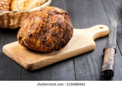 baked ham ball - homemade the best healthy sausages without any enhancers