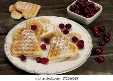 Baked heart waffles