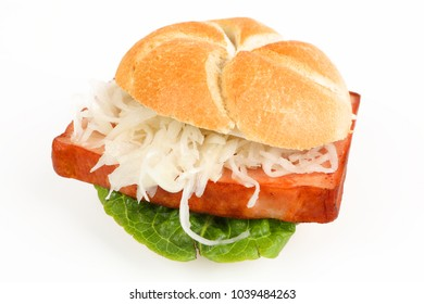 baked meat loaf in a roll