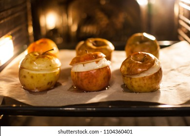Baked in oven apples