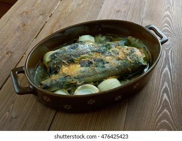 baked Sea Bass  - Firinda Levrek Tarifi.Turkish Cuisine.