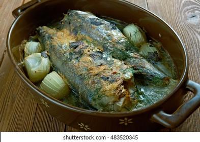 baked Sea Bass  - Firrinda Levrek Tarifi.Turkish Cuisine.