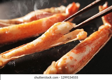 Baked snow crab legs image
