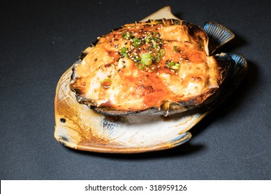 Baked Stuffed Scallop- Asian Style.