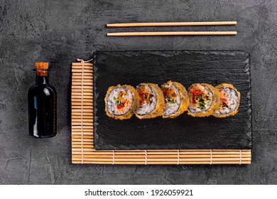 baked sushi rolls with tuna