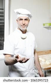 Baker. Baker in the bakery.