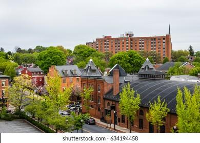 Baker Park Gazebo in Downtown Historic Frederick, Maryland