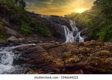 bakers fall waterfalls nuweraeliya srilanka